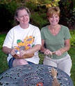 Lisa McCament and Shelly Weis coiling
